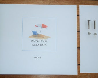 Guest Book refill pages, Beach-1 design