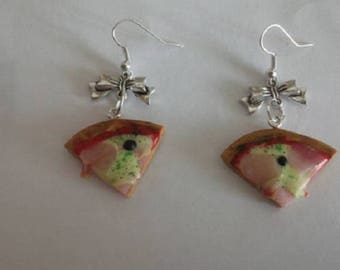Pair earring part of pizza