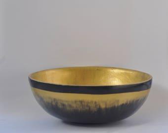 "Decorative bowl ""pharaoh"", mahogany bowl, hand-painted bowl, tableware"