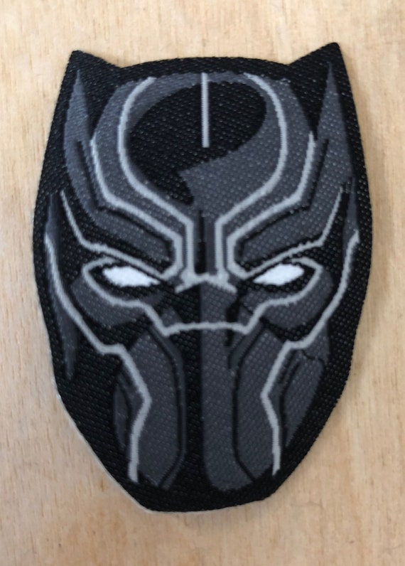 Killmonger Patch BLACK PANTHER Purple Mask Iron On Wakanda Marvel Poster shirt