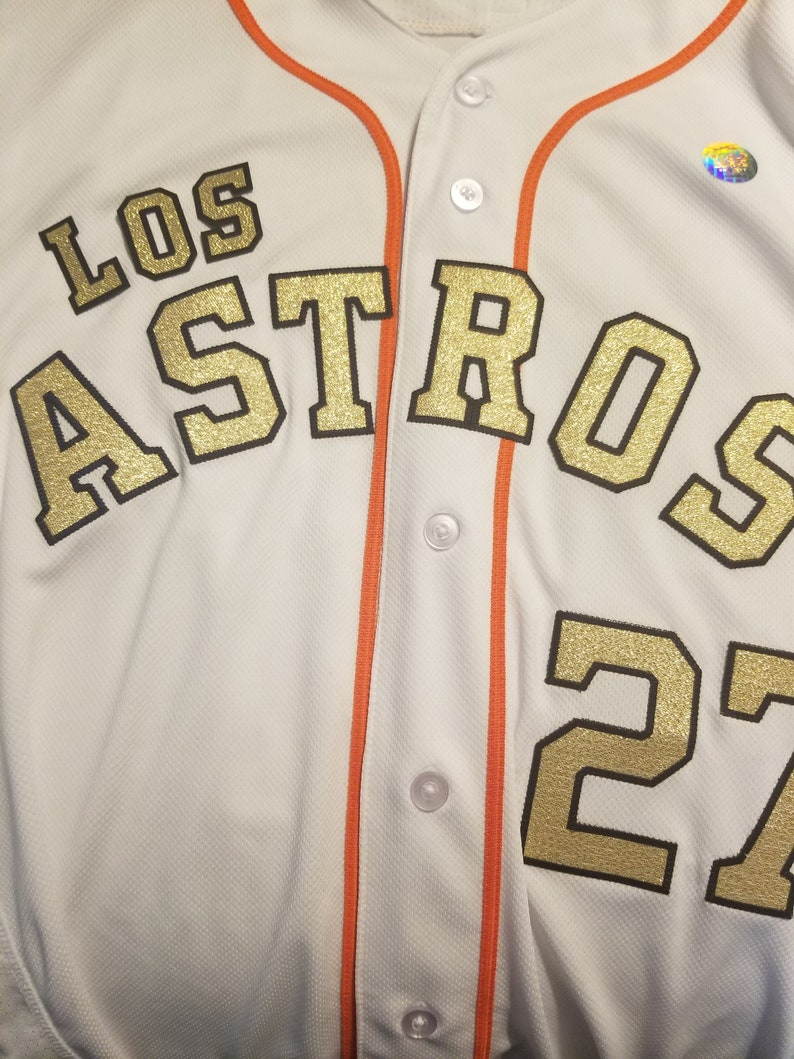 d27ad9e6 Houston LOS Astros White Jersey FRONT Spanish | Etsy