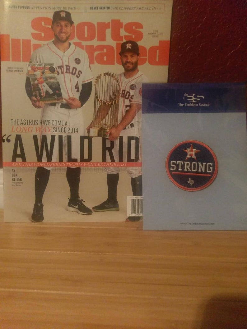 wholesale dealer c7954 a7226 Houston Strong Baseball Jersey Patch + World Series Sports Illustrated  Houston Astros Springer Altuve Gift Set!