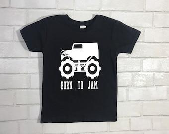 ddd3e1e2b Born To Jam Monster Truck Shirt, Toddler Monster Truck Shirt