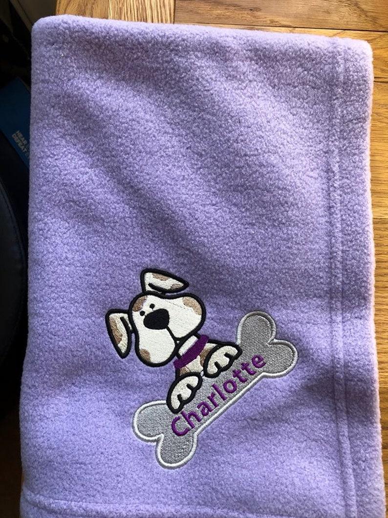 bfa1146512 Personalised Dog Blanket Puppy Blanket Dog Throw Custom Dog