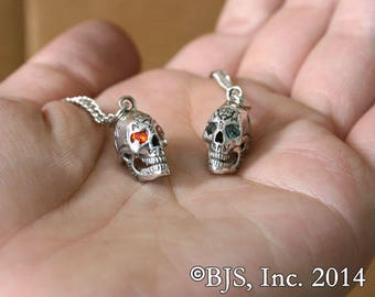 Bob The Skull© Necklace Pendant The Dresden Files©, sterling silver, officially licensed with Jim Butcher