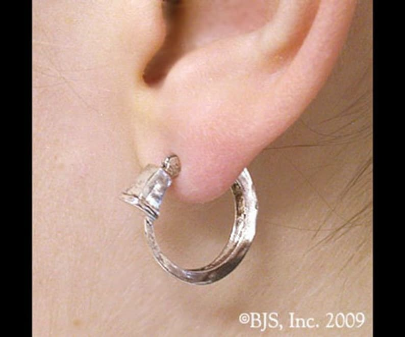 Vin's Earring from Brandon Sanderson's Mistborn Series, Hoop or Gauge  Style, Officially Licensed Sterling Silver Earrings, Free Shipping