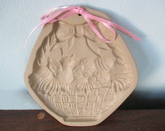 Easter Basket Cookie Mold Brown Bag 1986