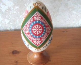 decorated goose egg, decorated goose egg, polychrome Alsace