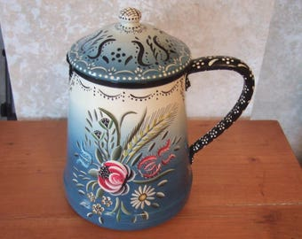 antique Creamer decorated aluminum Alsace