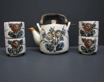 Asian teapot with 4 cups