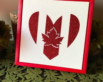 Oh Canada sign, patriotic, Canadian heart, Canadian love