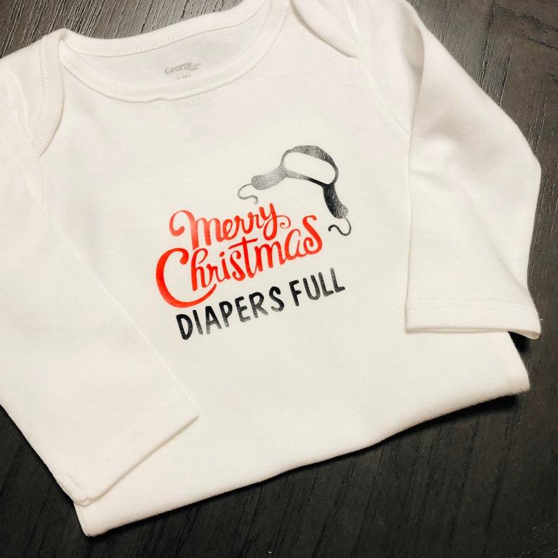 diapers full onesie Baby Christmas Onesie humorous baby onesie