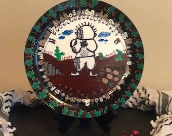 Handhala hand-painted decorative plate