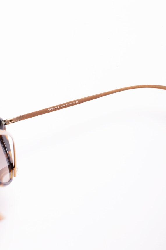 Vintage VERSACE Y2K Tortoiseshell Cat Eye Sunglas… - image 6