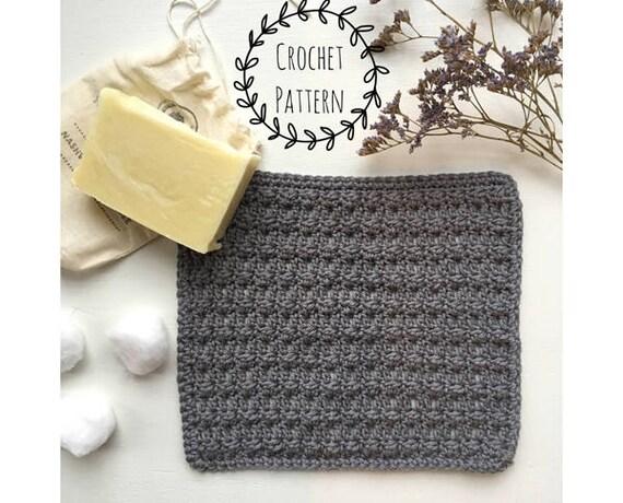 Pdf Crochet Washcloth Patterntextured Crochet Washclothpdf Etsy