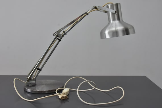 Lampe articulée de bureau d atelier d architecte vintage france