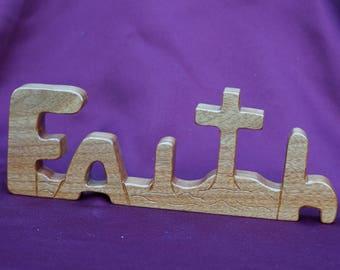Lg. Faith handmade of fine hardwoods