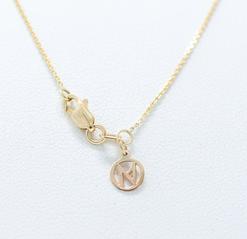 -14k Gold--Solid Yellow Gold Necklace--Geometric Necklace Necklace with two circles