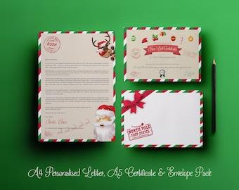 Christmas Eve Box Filler Boy Girl Personalised Letter from Santa /& Envelope
