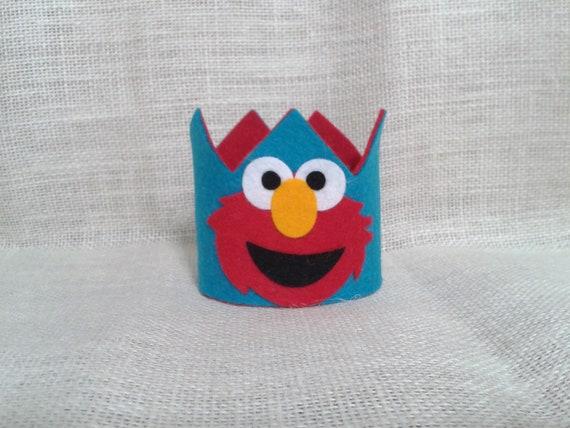 Elmo BIRTHDAY Crown Party Hat Sesame Street Photo Prop Smash Cake