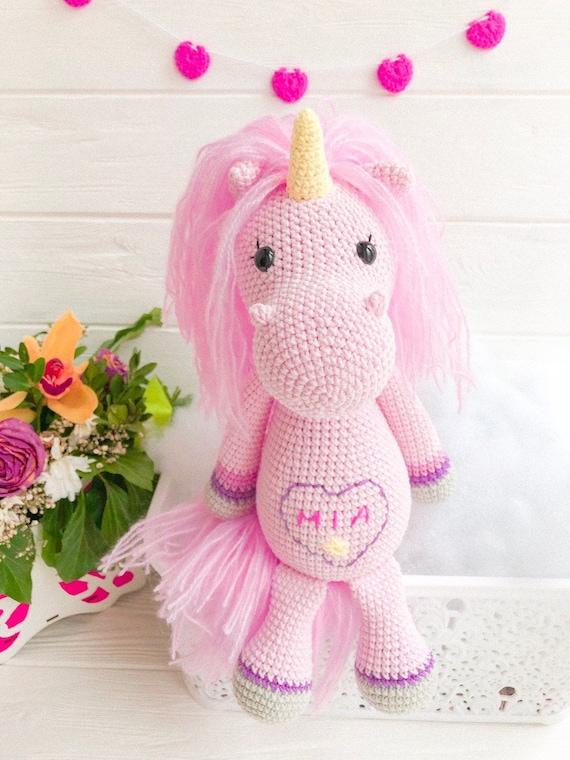 Sophia The Chubby Little Unicorn PDF Crochet Pattern | 760x570