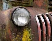 Red Chevrolet headlight...