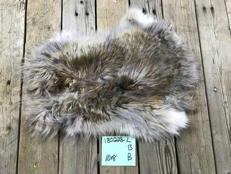 Natural Rabbit Fur 180228-L One Average Angora Type Chocolate Rabbit Hide No