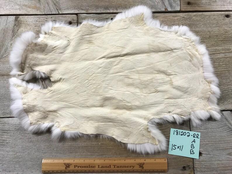 No Natural Rabbit Fur One Average White Rabbit Hide 181202-RR