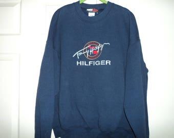 584a92e9 Vintage 90s Bootleg Tommy Hilfiger Unisex Crewneck Sweatshirt