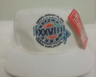 65fc0eceb94 Vintage 90s Dead Stock Super Bowl Hat