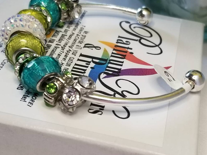 Lime Green Bangle Spring Bracelet Springtime- Birthday Jewelry Women/'s Prom Girls