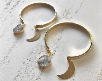 moon bangle / grey //