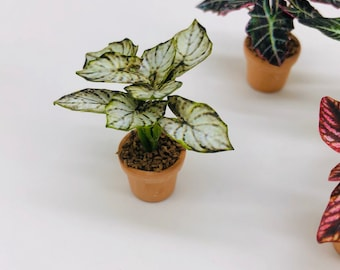 Miniature Plants, Miniature Dollhouse Fairy Garden,Dollhouse Flower,Miniature Garden 1:12