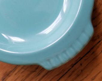 RARE Vintage Turquoise Blue Fiesta Ware Sugar Creamer on Tray Total 4 Pieces 1950's BEAUTIFUL!!!