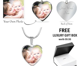 CUSTOM PICTURE NECKLACE Custom Photo Necklace Child Mom Dad Grandma Gift Family Friend Pet Personalized Photo Pendant Necklace Photo Jewelry