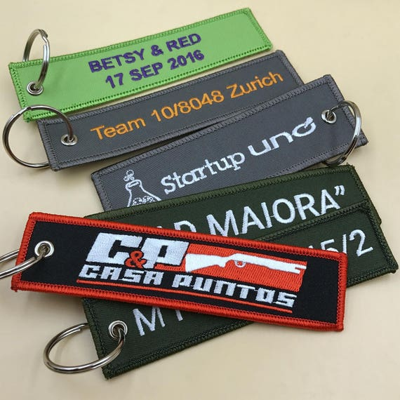 300 airplane keychains, custom embroidered keychain, custom fabric  keychains, flight Tags/Keychains red,black more colors