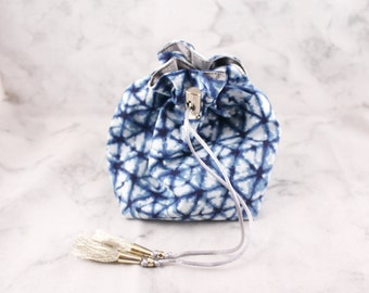 Small Dice Bag without pockets//Graviturgy and Geometry//Navy and Silver