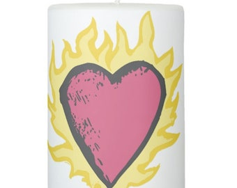 "Flaming Heart Clothes Over Bro's 3"" x 4"" Candle - One Tree Hill"