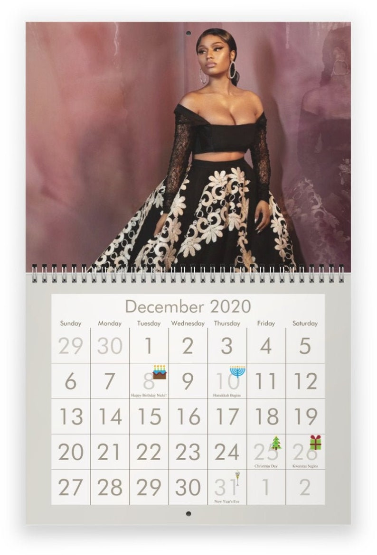 Nicki Minaj Calendar 2020 Nicki Minaj 2020 Wall Calendar PRE ORDER | Etsy
