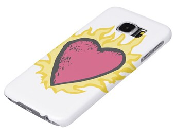 "Clothes Over Bro's Flaming Heart ""Barely There"" Phone Cases - One Tree Hill"