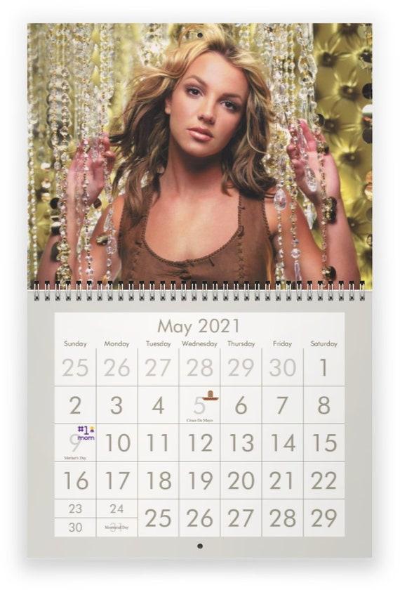 Britney Spears 2021 Wall Calendar Etsy