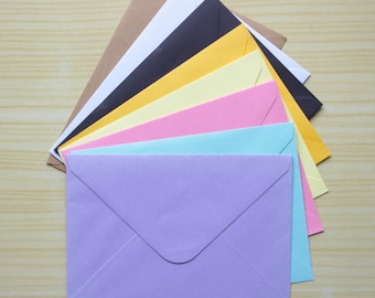 Envelope C6 Contained 8 Pcs A6 Postcard Pastel Black White Craft Postcrossing Send Sending