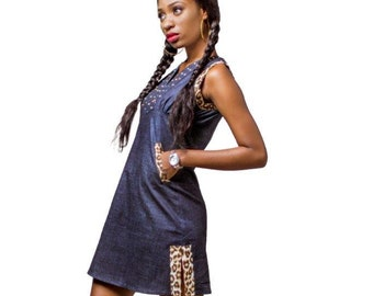 e9666f447c African denim dress