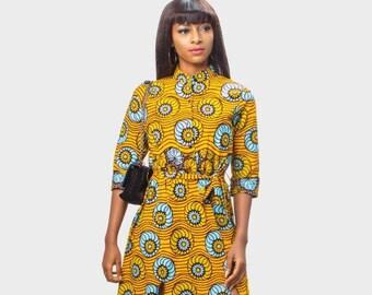 Ankara Slit Dress, African Print Dress, Ankara Long Dress, African Clothing for Women, African Dress, African Clothing, African Women Dress