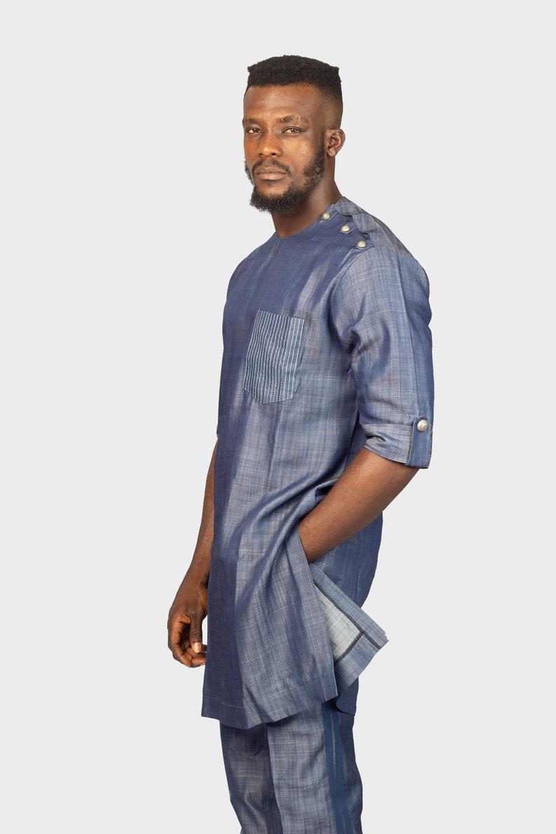 Homme AfricainUsure Jeans PantalonJean Vêtements Epaulette Africaine PantalonsHaut Et En Topamp; Un HommeChemise Pour 80wkZnOPNX