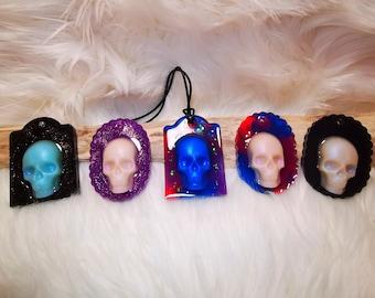 Skull Skull Label Pendant Keychain Pendant Pocket Tree Slice Ocean Gift Resin Resin Necklace