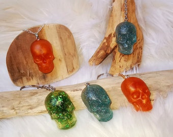 Skull Skull Skull Keychain Pendant Pocket Tree Slice Ocean Gift Resin Resin Resin