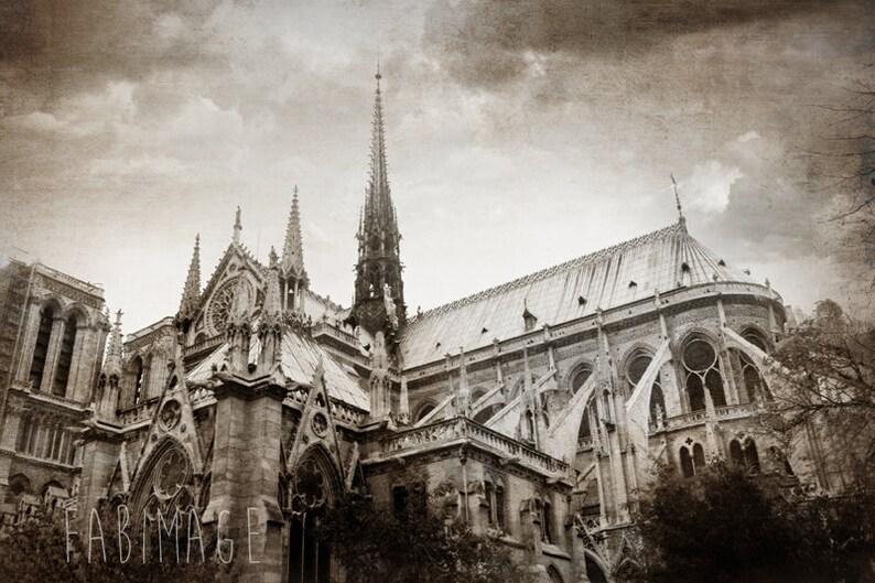 Paris Photography Notre Dame Of Paris Black And White Or Sepia Home Decor Fine Art Canvas