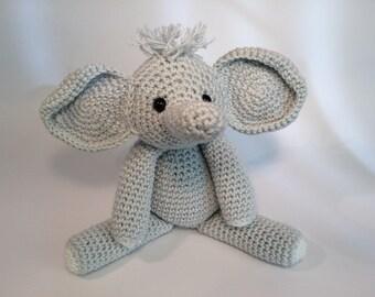 Baby Elephant, Handmade Crochet Toy, Amigurumi Elephant, Baby Shower Gift