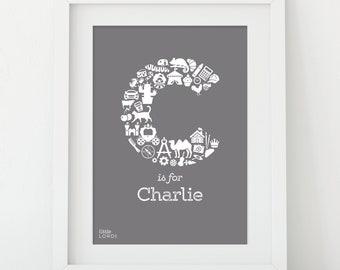 Personalised Alphabet Print - Letter C